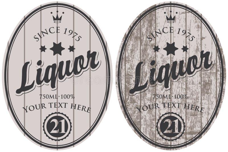 Insieme delle etichette del liquore di vettore illustrazione di stock