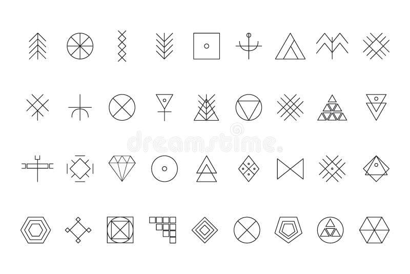 Insieme delle forme geometriche royalty illustrazione gratis