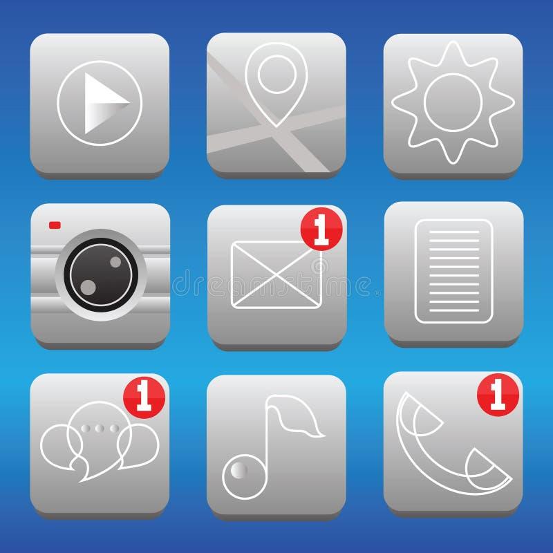 Insieme delle icone illustrazione vettoriale