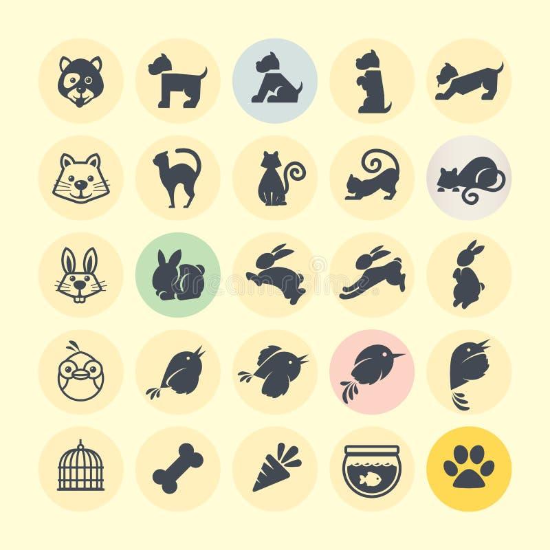 Insieme delle icone animali royalty illustrazione gratis