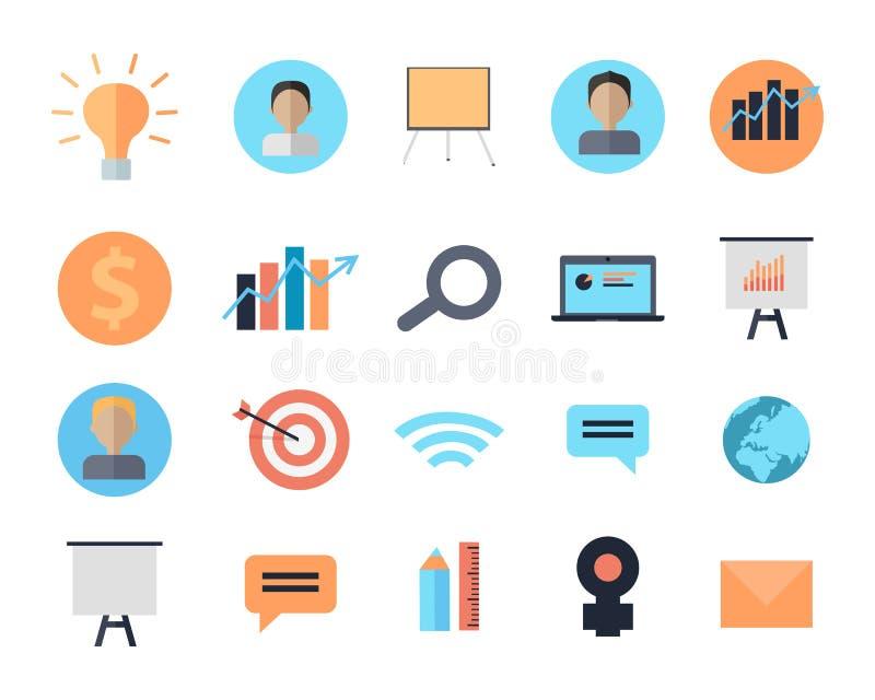 Insieme delle icone dei dispositivi di Digital della gestione di tempo illustrazione vettoriale