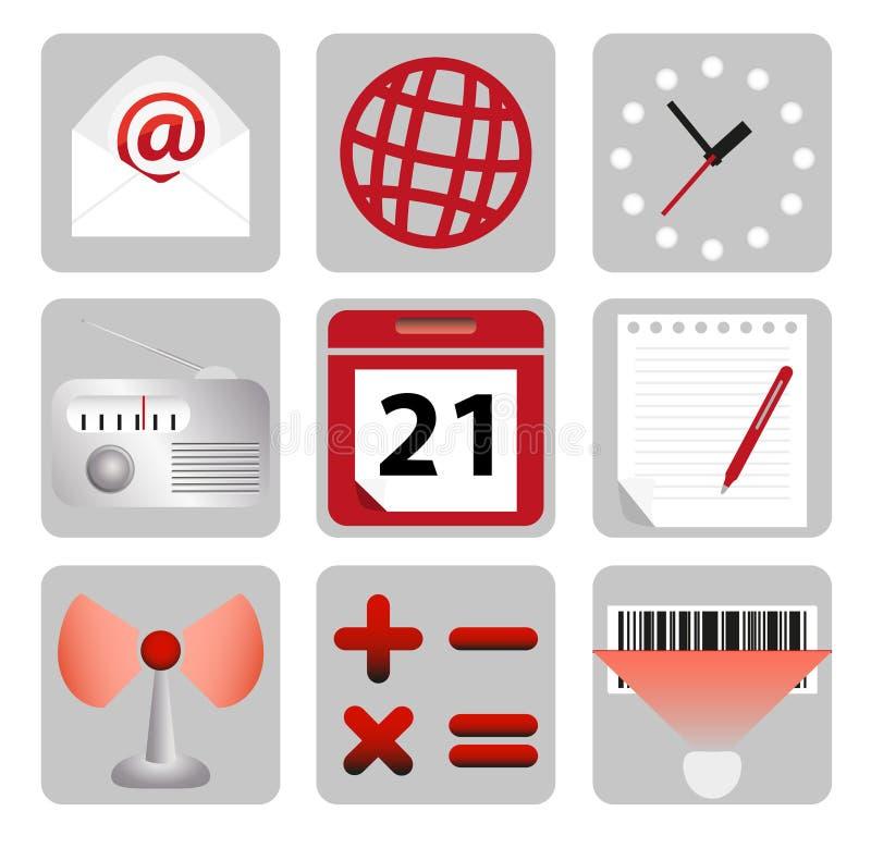 Insieme delle icone del calcolatore illustrazione vettoriale