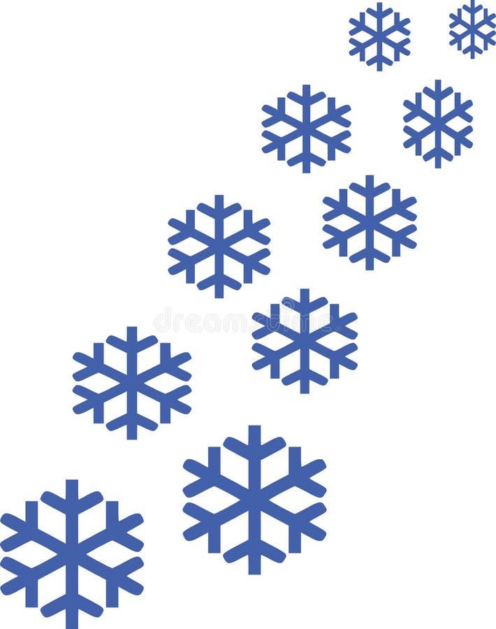 Insieme delle icone del fiocco di neve royalty illustrazione gratis