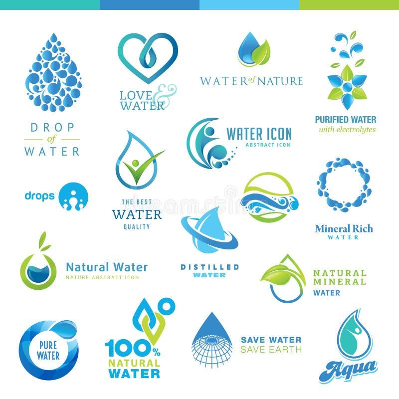 Insieme delle icone dell'acqua royalty illustrazione gratis