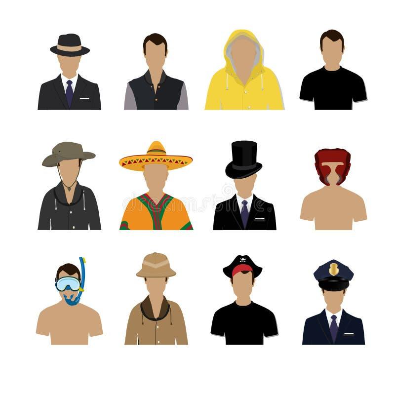 Insieme delle icone dell'incarnazione illustrazione di stock