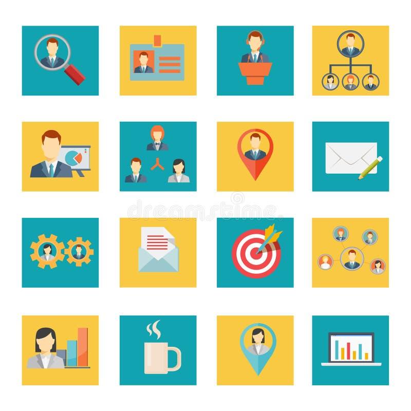 Insieme delle icone dell'ufficio e di affari di vettore illustrazione vettoriale