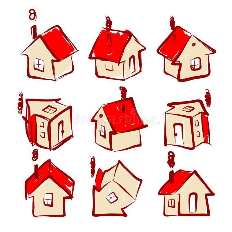 Insieme delle icone della casa per la vostra progettazione for Insieme del programma della casa