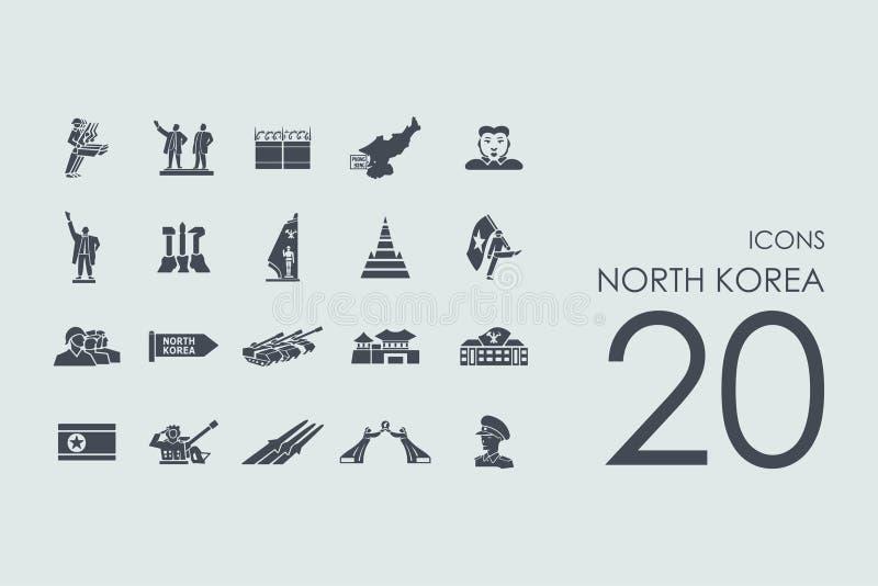 Insieme delle icone della Corea del Nord royalty illustrazione gratis