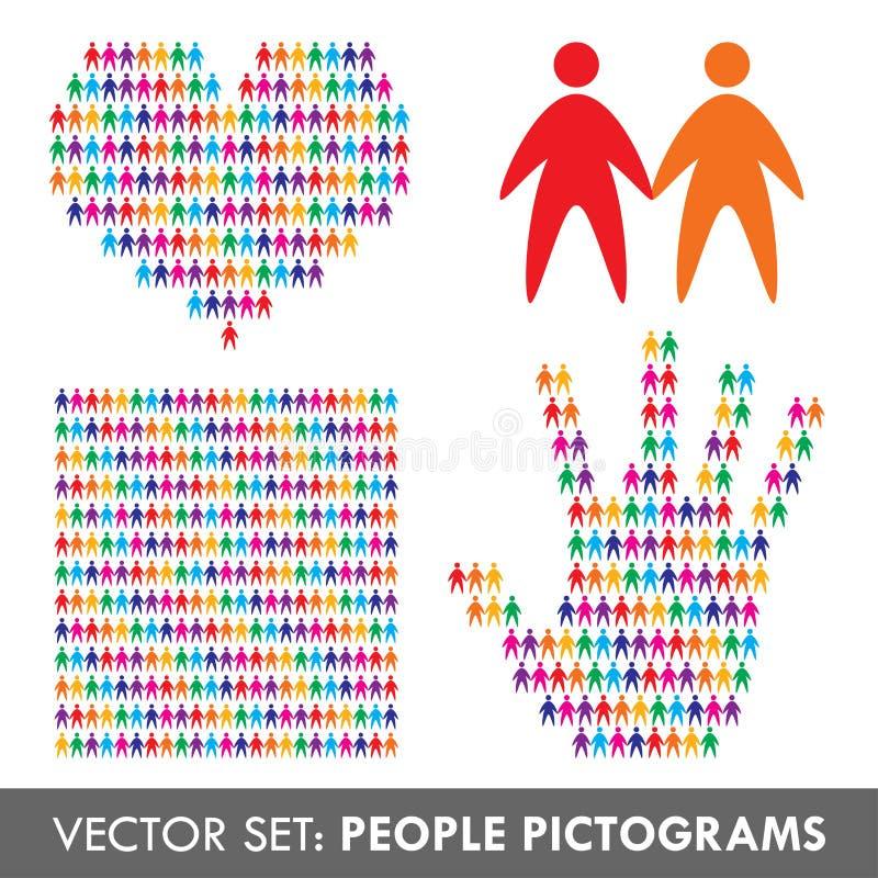 Insieme delle icone della gente di vettore illustrazione di stock