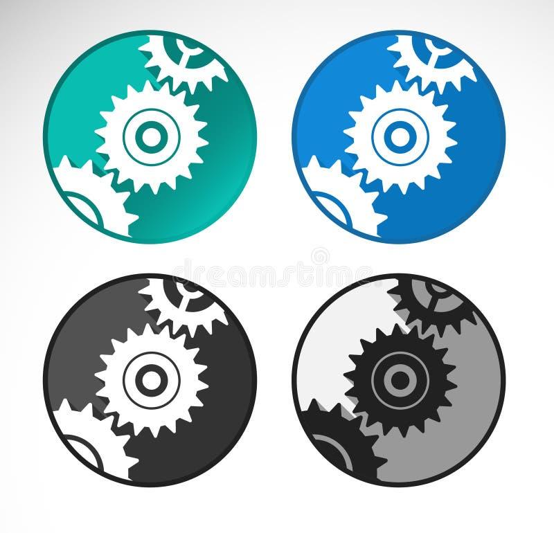 Insieme delle icone delle regolazioni illustrazione vettoriale