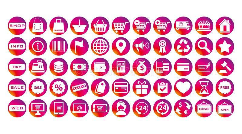 Insieme delle icone di affari di storie di Instagram illustrazione vettoriale