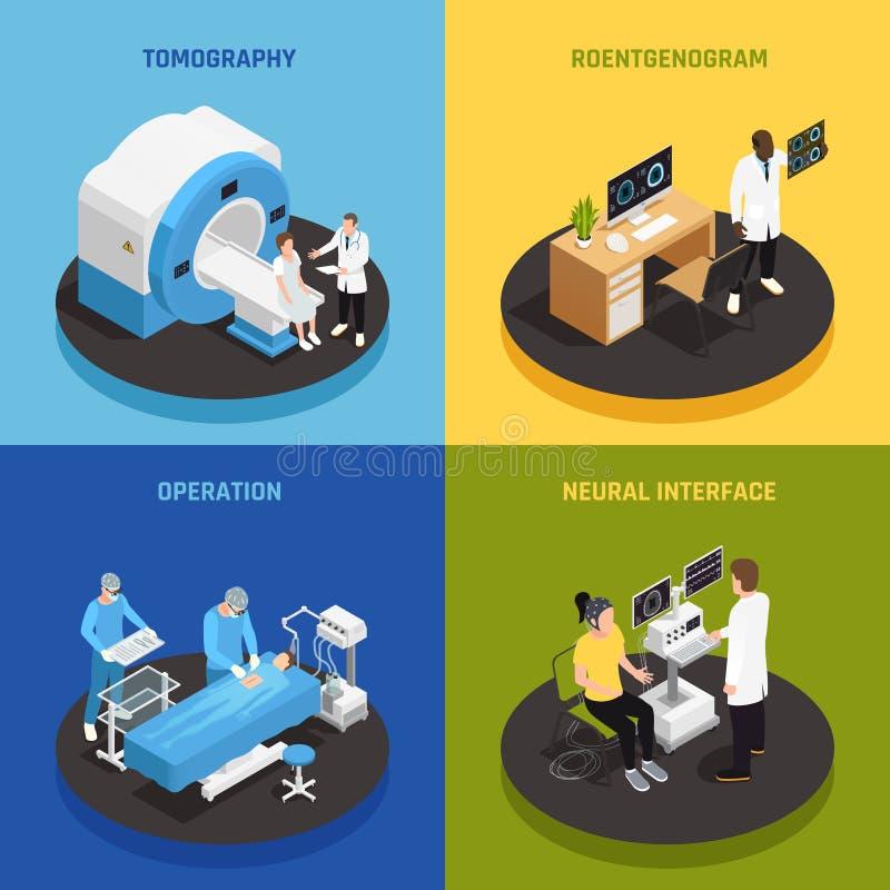 Insieme delle icone di concetto di neurologia illustrazione vettoriale