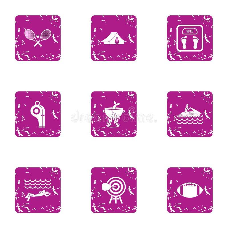 Insieme delle icone di modo di aumento, stile di lerciume royalty illustrazione gratis