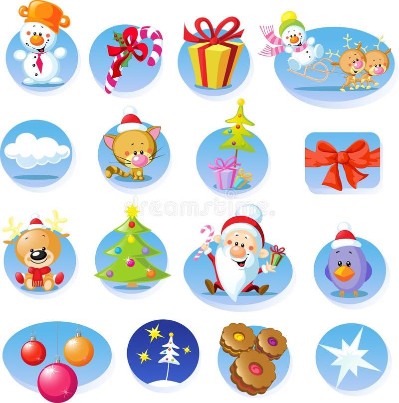 Insieme delle icone di Natale - vettore illustrazione vettoriale