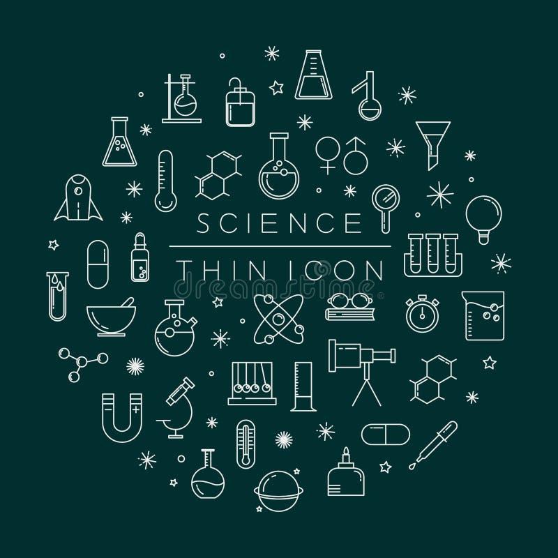 Insieme delle icone di scienza royalty illustrazione gratis