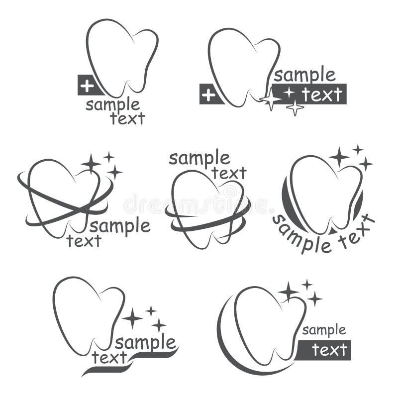 Insieme delle icone di vettore dell'denti royalty illustrazione gratis