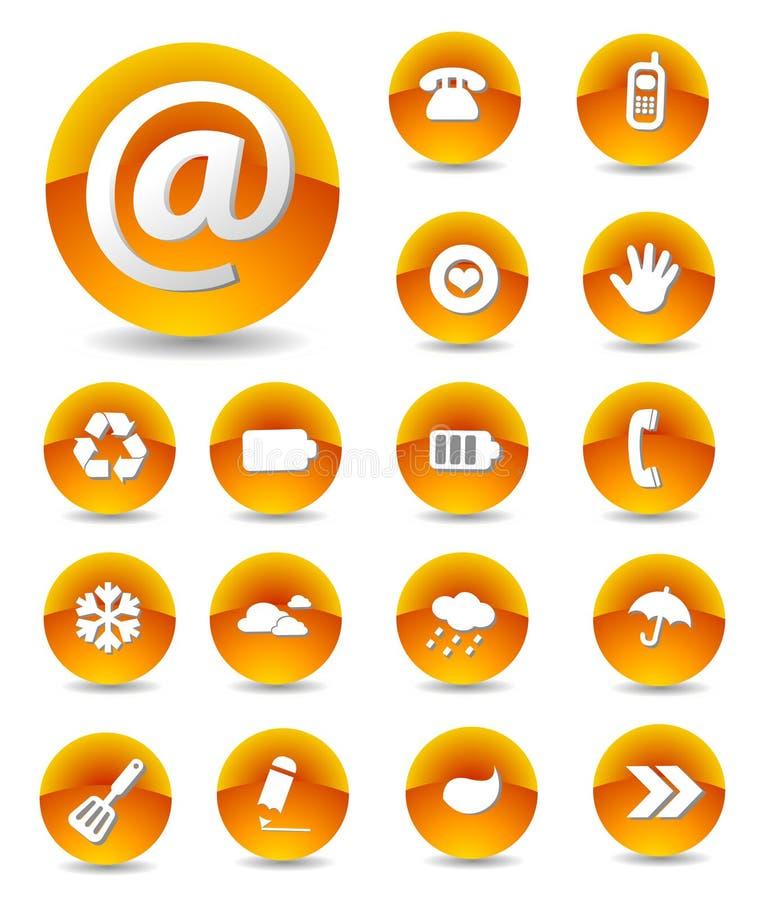 Insieme delle icone di Web royalty illustrazione gratis