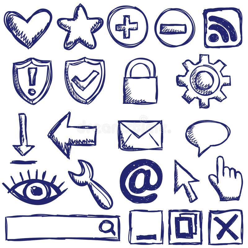 Insieme delle icone di Web del Internet royalty illustrazione gratis
