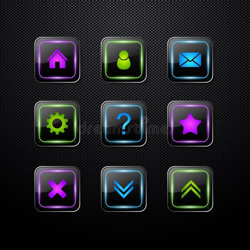 Insieme delle icone di Web di vettore illustrazione vettoriale