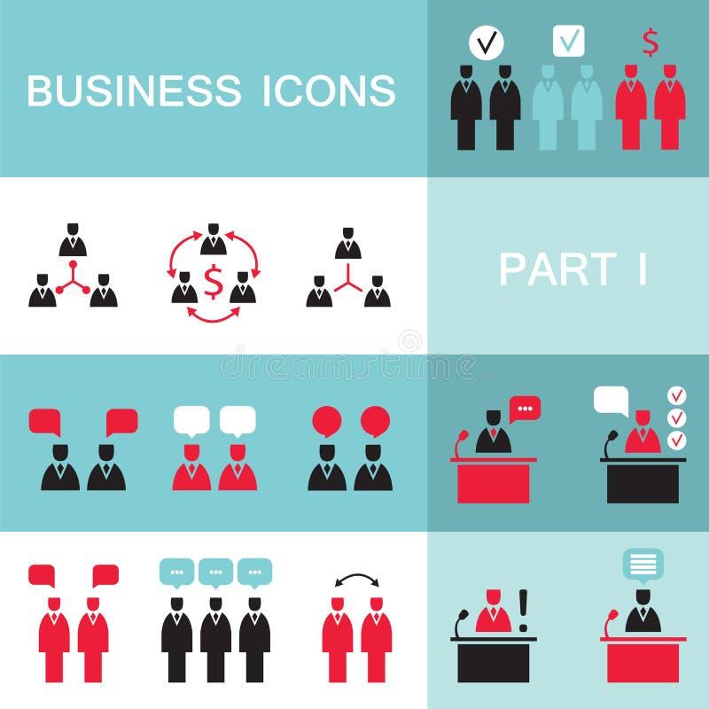 Insieme delle icone di web per l'affare, finanza, ufficio, comunicazione, risorse umane illustrazione di stock
