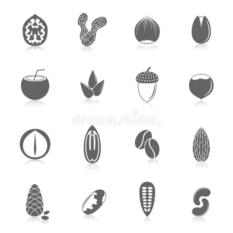 Insieme delle icone matte illustrazione vettoriale