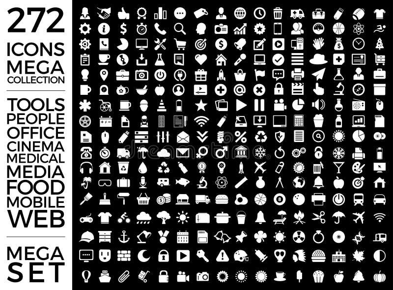Insieme delle icone, pacchetto universale di qualità, grande progettazione di vettore della raccolta dell'icona royalty illustrazione gratis