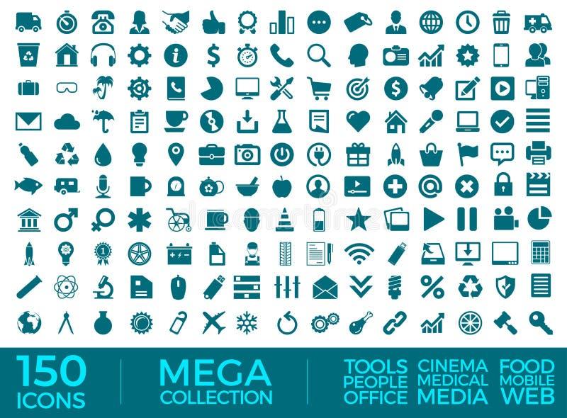 Insieme delle icone, pacchetto universale di qualit?, grande progettazione di vettore della raccolta dell'icona illustrazione di stock