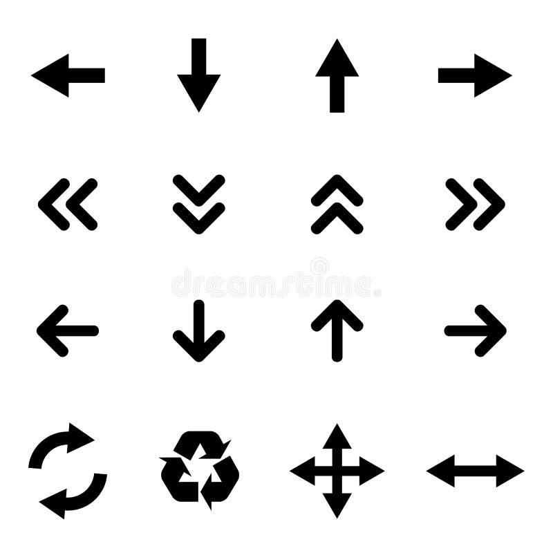 Insieme delle icone piane - frecce