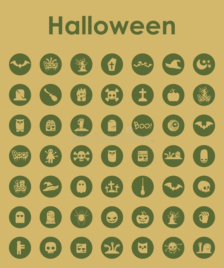Insieme delle icone semplici di Halloween illustrazione vettoriale