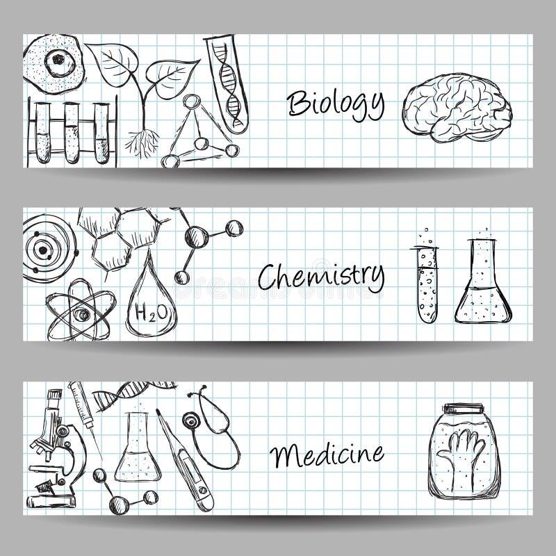 Insieme delle insegne di scienza royalty illustrazione gratis