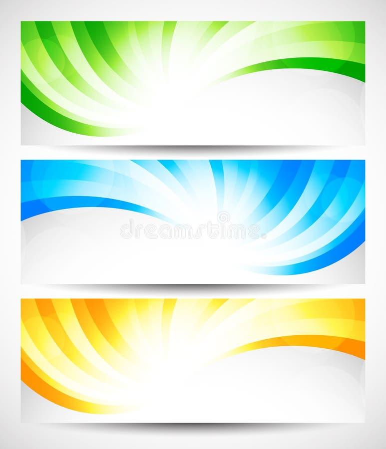 Insieme delle insegne di turbinio illustrazione di stock