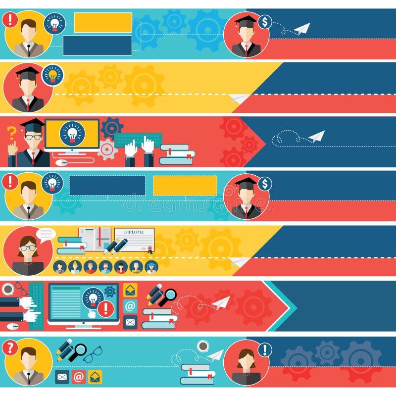 Insieme delle insegne di web di istruzione (+EPS 10) illustrazione vettoriale