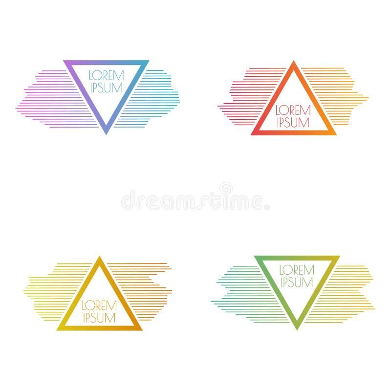 Insieme delle insegne triangolari di vettore illustrazione di stock