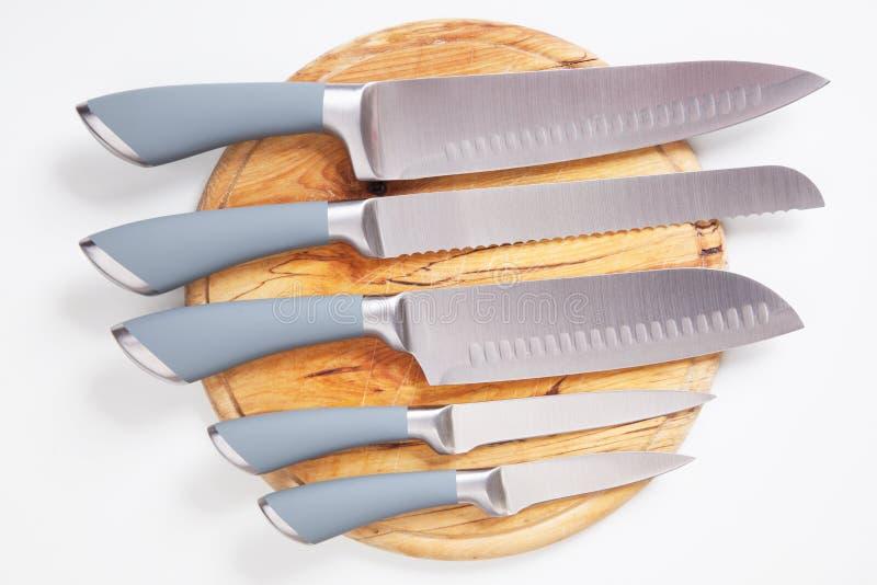 Insieme delle lame di cucina immagine stock
