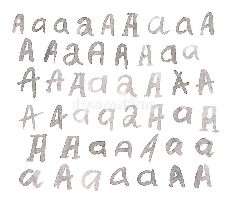 Insieme delle lettere di multiplo A isolate fotografia stock libera da diritti