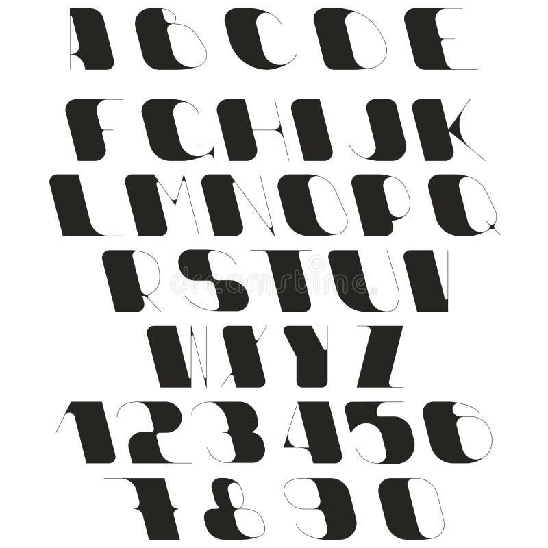 Insieme delle lettere e dei numeri royalty illustrazione gratis