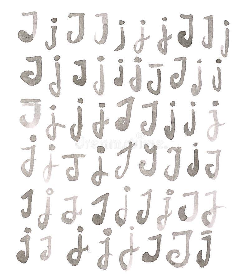 Insieme delle lettere multiple di J isolate fotografie stock
