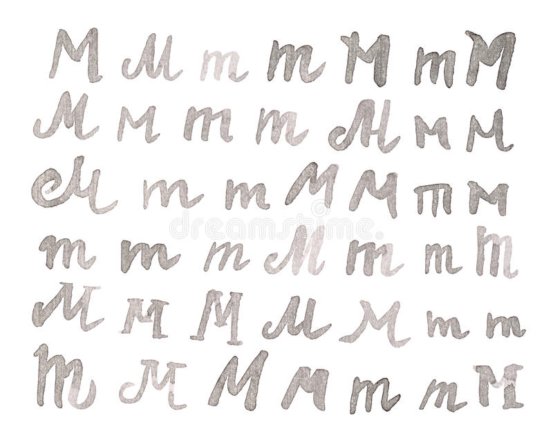 Insieme delle lettere multiple di m. isolate fotografie stock libere da diritti