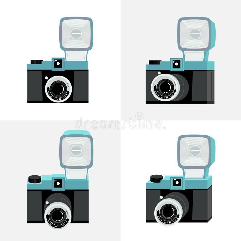 Insieme delle macchine fotografiche illustrazione vettoriale