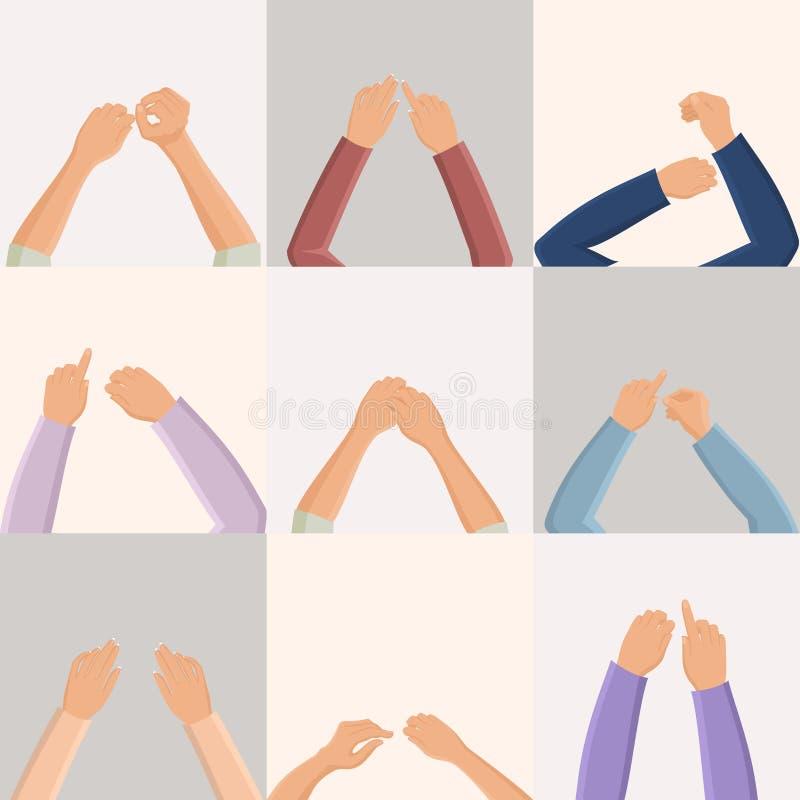 Insieme delle mani illustrazione di stock