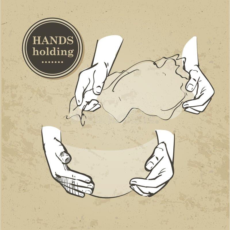 Insieme delle mani illustrazione vettoriale