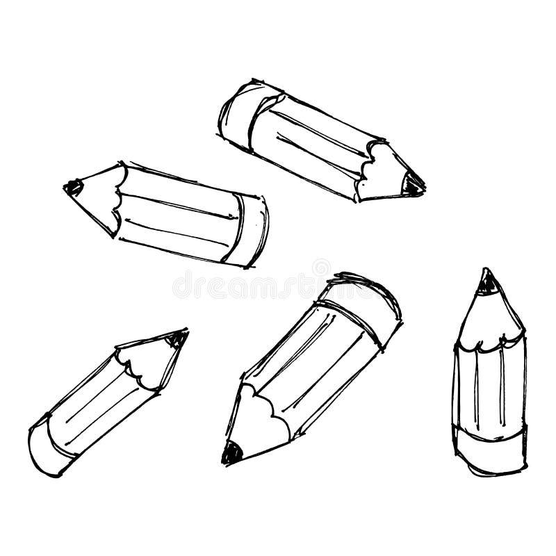 Download Insieme Delle Matite Dello Styple Del Fumetto Illustrazione Vettoriale - Illustrazione di formazione, fumetto: 55363388