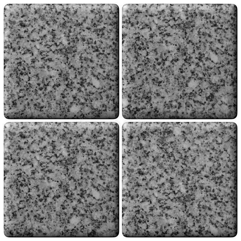 Insieme delle mattonelle del granito. fotografia stock