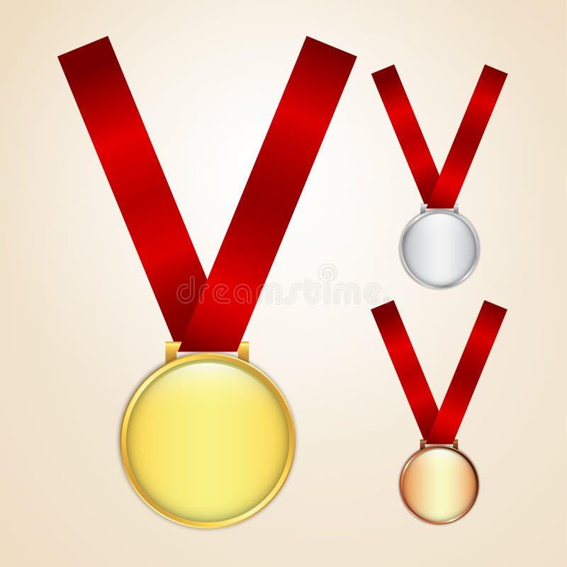 Insieme delle medaglie royalty illustrazione gratis