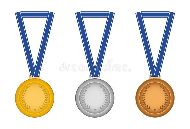 Insieme delle medaglie illustrazione di stock