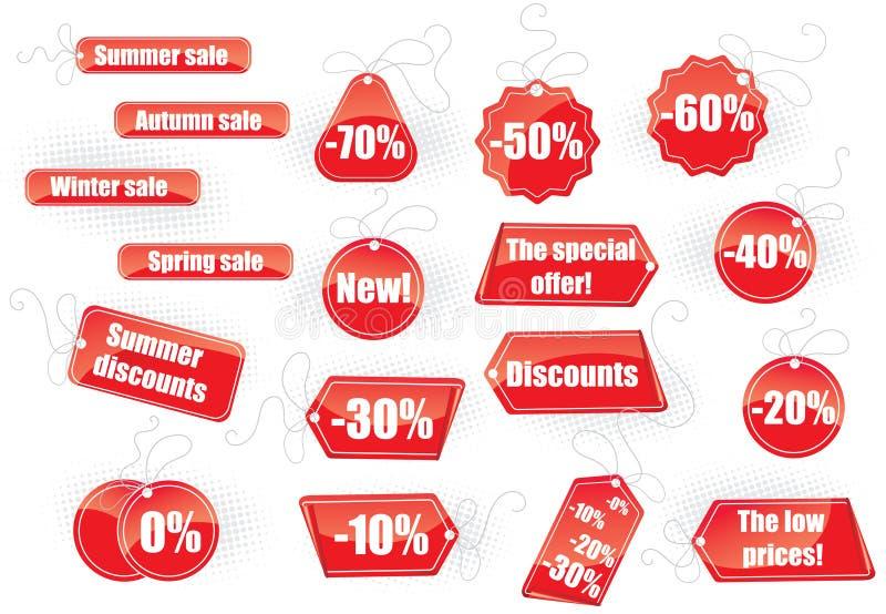 Insieme delle modifiche di vendita illustrazione di stock