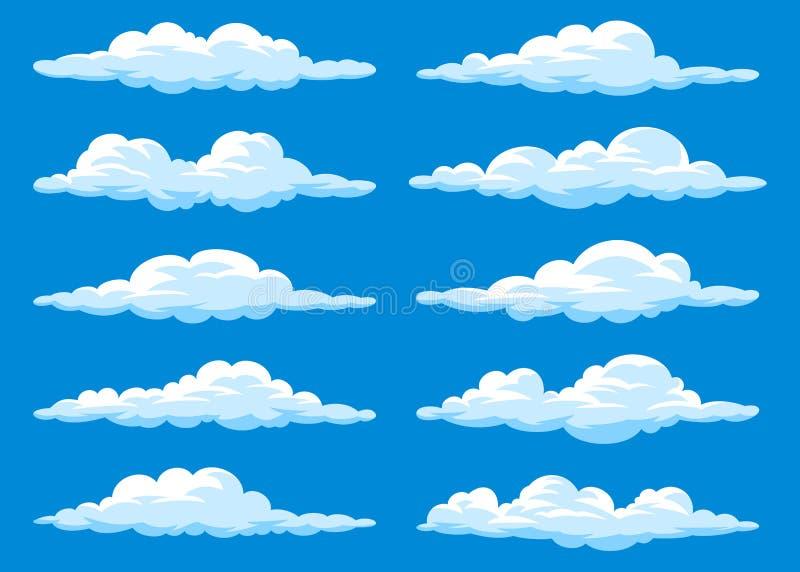 Insieme delle nuvole del fumetto illustrazione vettoriale
