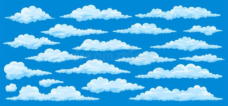 Insieme delle nuvole del fumetto royalty illustrazione gratis