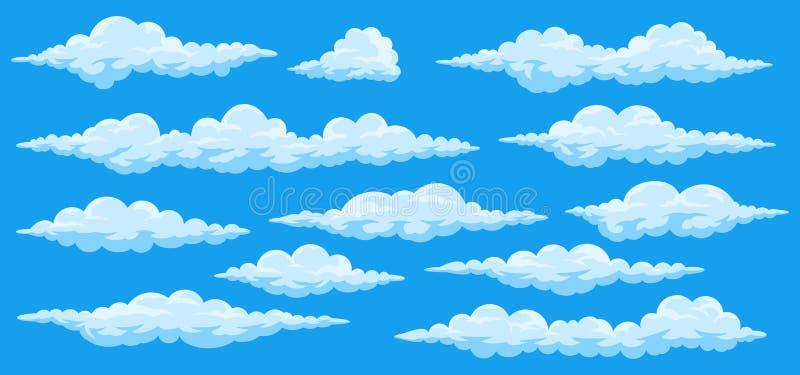 Insieme delle nuvole del fumetto illustrazione di stock