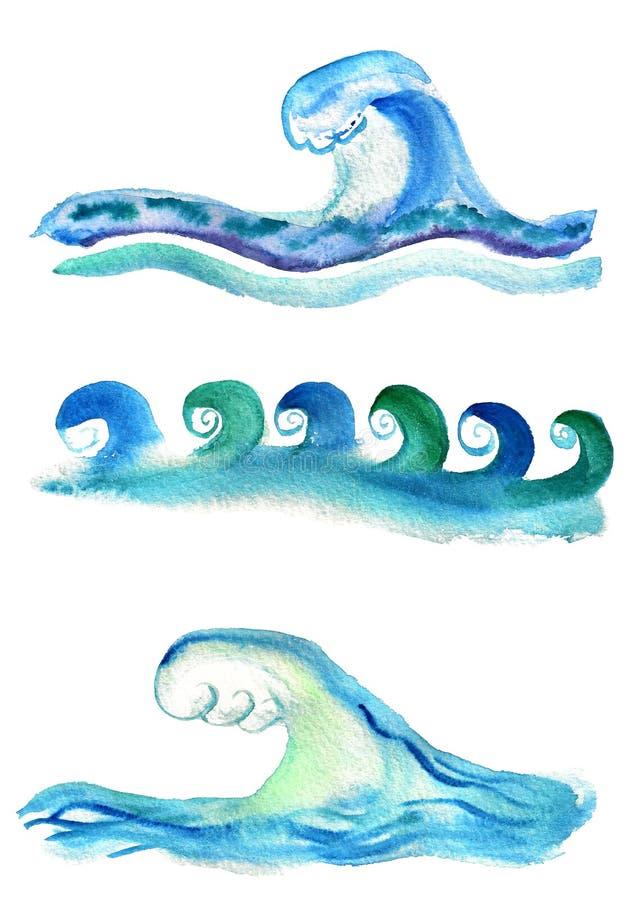 Insieme delle onde royalty illustrazione gratis
